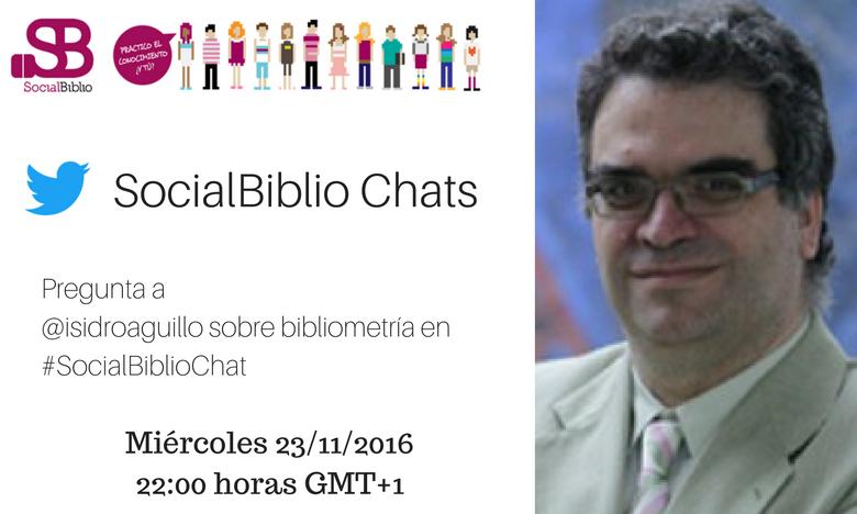 Isidro Aguillo en SocialBiblioChat