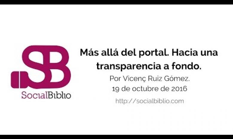 Embedded thumbnail for Más allá del portal. Hacia una transparencia a fondo.