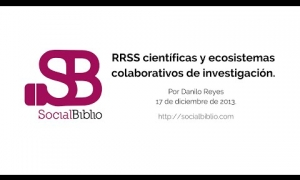 Embedded thumbnail for Redes sociales científicas y sistemas colaborativos de investigación