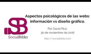 Embedded thumbnail for Aspectos psicológicos de las webs: información vs diseño gráfico