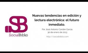 Embedded thumbnail for Nuevas tendencias en edición y lectura electrónica: el futuro inmediato