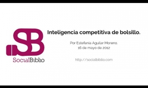 Embedded thumbnail for Inteligencia competitiva de bolsillo